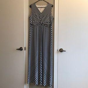 Chico's Maxi Dress v-neck Chevron EUC